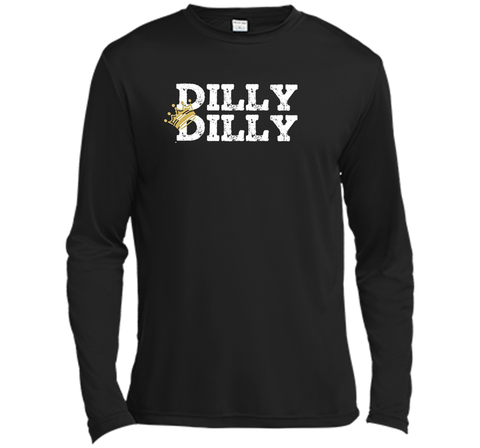 Dilly Dilly Crown Football T Shirt Black / Small LS Moisture Absorbing Shirt - PresentTees