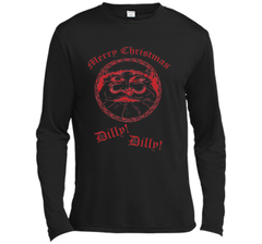 Merry Christmas Dilly Dilly Fun Santa Holiday T Shirt LS Moisture Absorbing Shirt - PresentTees