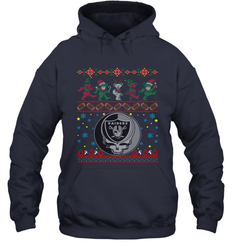 Oakland Raiders Christmas Grateful Dead Jingle Bears Football Ugly Sweatshirt Adult Unisex Hoodie Sweatshirt
