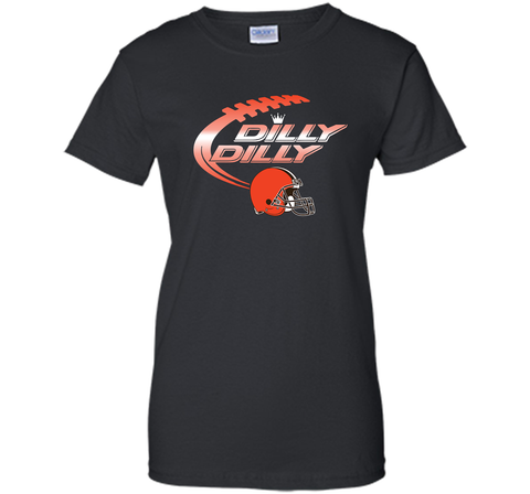 Cleveland Browns Dilly Dilly Bud Light T-Shirt NFL Football for Fans Black / Small Ladies Custom - PresentTees