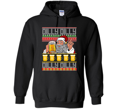 Dilly Dilly Christmas Sweater ugly T Shirt Black / Small Pullover Hoodie 8 oz - PresentTees