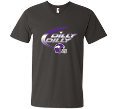Minnesota Vikings Dilly Dilly T-Shirt NFL Football Gift Fans Men Printed V-Neck Tee - PresentTees