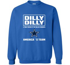 Bud Light Dilly Dilly! A True Friend Of The Dallas Cowboys Shirts Crewneck Pullover Sweatshirt 8 oz - PresentTees
