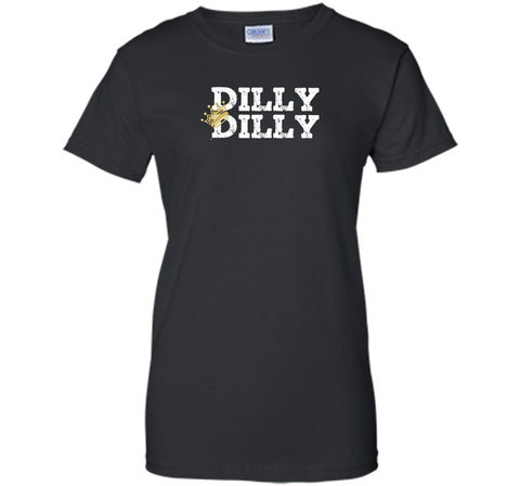 Dilly Dilly Crown Football T Shirt Black / Small Ladies Custom - PresentTees