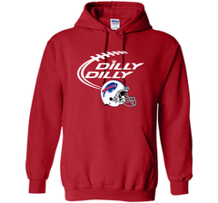 DILLY DILLY Buffalo Bills NFL Team Logo Pullover Hoodie 8 oz - PresentTees