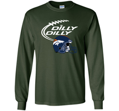 DILLY DILLY Denver Broncos NFL Team Logo LS Ultra Cotton TShirt - PresentTees