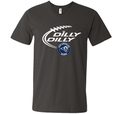 DILLY DILLY  Los Angeles Rams shirt Men Printed V-Neck Tee - PresentTees