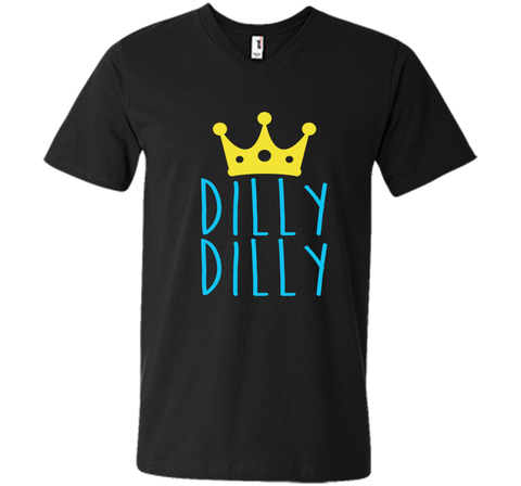 Bud Light Dilly Dilly Crown T-Shirt Black / Small Men Printed V-Neck Tee - PresentTees