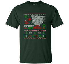 Merry Pitmas Christmas Sweater Design Gift for Pit Lovers T-Shirt Custom Ultra Cotton Tshirt - PresentTees