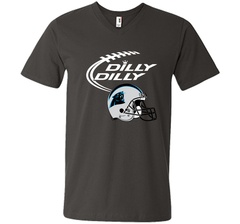 DILLY DILLY Carolina Panthers NFL Team Logo Men Printed V-Neck Tee - PresentTees