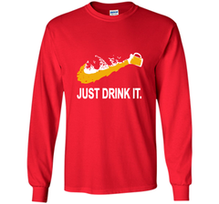 Bud Light Dilly Dilly Nike Love Just Drink It Shirt LS Ultra Cotton TShirt - PresentTees