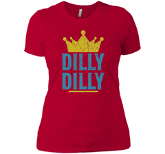 Dilly Dilly A True friend of the crown King T Shirt Next Level Ladies Boyfriend Tee - PresentTees
