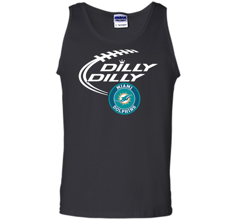 DILLY DILLY Miami dolphins shirt Black / Small Tank Top - PresentTees