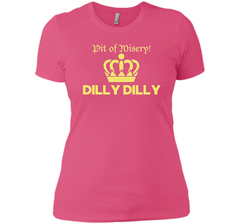 Bud Light Pit of Misery Dilly Dilly T Shirt Next Level Ladies Boyfriend Tee - PresentTees