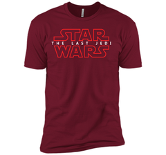 Star Wars Last Jedi Red Outline Logo Graphic Next Level Premium Short Sleeve Tee - PresentTees