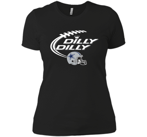 Dilly Dilly Dallas Cowboy Logo American Football Team Bud Light Christmas T-Shirt Black / Small Next Level Ladies Boyfriend Tee - PresentTees