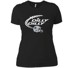 Dilly Dilly Dallas Cowboy Logo American Football Team Bud Light Christmas T-Shirt Next Level Ladies Boyfriend Tee - PresentTees