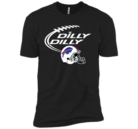 DILLY DILLY Buffalo Bills NFL Team Logo Black / Small Next Level Premium Short Sleeve Tee - PresentTees