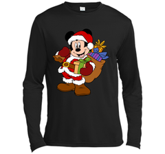 Disney Santa Mickey Mouse Christmas gifts LS Moisture Absorbing Shirt - PresentTees