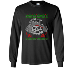 Pirate Christmas Ugly Sweater T-Shirt LS Ultra Cotton TShirt - PresentTees