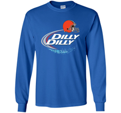 Cleveland Browns Dilly Dilly Bud Light T-Shirt CLE NFL Football Team Gift for Fans LS Ultra Cotton TShirt - PresentTees