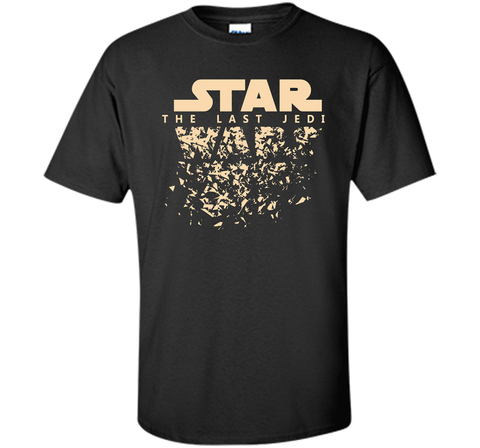 Star Wars Last Jedi Disintegrated Logo Graphic Black / Small Custom Ultra Cotton Tshirt - PresentTees