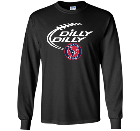 DILLY DILLY Houston Texans shirt Black / Small LS Ultra Cotton TShirt - PresentTees