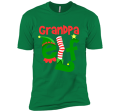 Grandpa Elf - T-Shirt Christmas Family Matching Pajamas Gift Next Level Premium Short Sleeve Tee - PresentTees