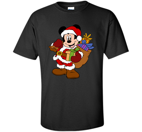 Disney Santa Mickey Mouse Christmas gifts Black / Small Custom Ultra Cotton Tshirt - PresentTees