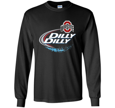 Dilly Dilly Ohio State Buckeyes T Shirt Ohio State Dilly Dilly Bud Light Shirts Black / Small LS Ultra Cotton TShirt - PresentTees