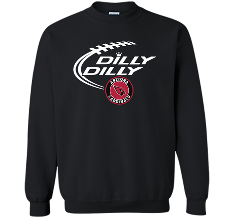 DILLY DILLY Arizona Cardinals shirt Black / Small Crewneck Pullover Sweatshirt 8 oz - PresentTees