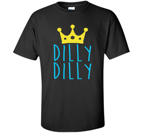 Bud Light Dilly Dilly Crown T-Shirt Black / Small Custom Ultra Cotton Tshirt - PresentTees