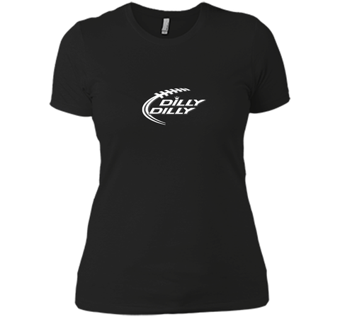 Funny Bud Light DILLY DILLY Shirt Black / Small Next Level Ladies Boyfriend Tee - PresentTees