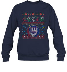 New York Giants Christmas Grateful Dead Jingle Bears Football Ugly Sweatshirt Adult Unisex Crewneck Sweatshirt