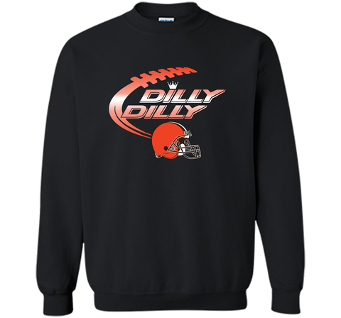 Cleveland Browns Dilly Dilly Bud Light T-Shirt NFL Football for Fans Black / Small Crewneck Pullover Sweatshirt 8 oz - PresentTees
