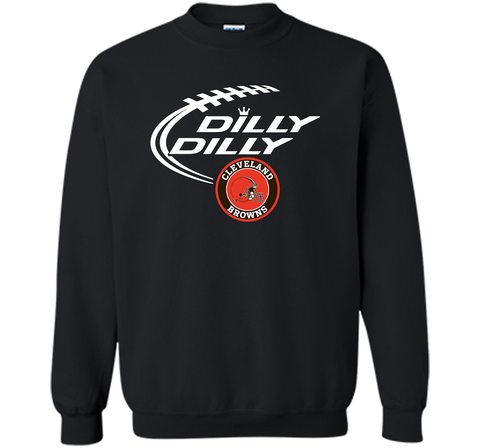 DILLY DILLY Cleverlan Browns shirt Black / Small Crewneck Pullover Sweatshirt 8 oz - PresentTees