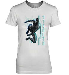 Marvel Spider Man Far From Home Stealth Suit Tech Poster Women's Premium T-Shirt