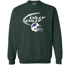 DILLY DILLY Buffalo Bills NFL Team Logo Crewneck Pullover Sweatshirt 8 oz - PresentTees