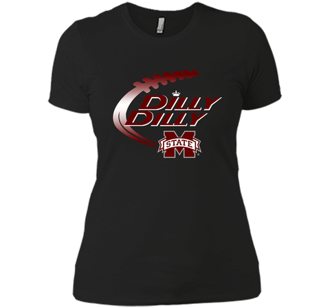 Dilly Dilly Mississippi State T-Shirt Black / Small Next Level Ladies Boyfriend Tee - PresentTees