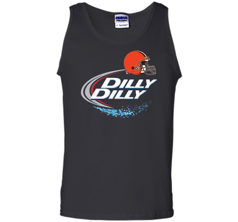 Cleveland Browns Dilly Dilly Bud Light T-Shirt CLE NFL Football Team Gift for Fans Black / Small Tank Top - PresentTees