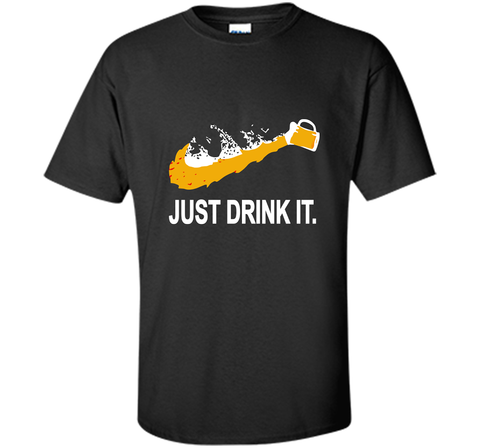Bud Light Dilly Dilly Nike Love Just Drink It Shirt Black / Small Custom Ultra Cotton Tshirt - PresentTees