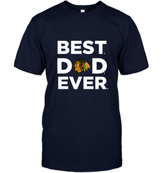 Best Chicago Blackhawks Dad Ever Hockey NHL Fathers Day GIft For Daddy Men's T-Shirt