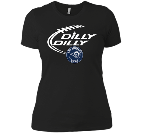 DILLY DILLY  Los Angeles Rams shirt Black / Small Next Level Ladies Boyfriend Tee - PresentTees