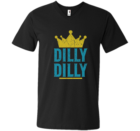 Dilly Dilly A True friend of the crown King T Shirt Black / Small Men Printed V-Neck Tee - PresentTees