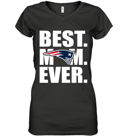 Best New England Patriots Mom Ever NFL Team Mother's Day Gift Women's V-Neck T-Shirt