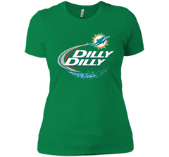 Miami Dolphins MIA Dilly Dilly Bud Light T Shirt MIA NFL Football Shirts Gift for Fans Next Level Ladies Boyfriend Tee - PresentTees