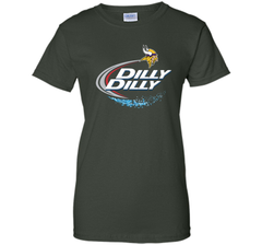 Vikings Dilly Dilly T-Shirt Minnesota Vikings NFL Football Gift Fans Ladies Custom - PresentTees