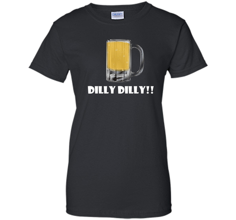 Dilly Dilly Beer Mug Alcohol Drink Stein Medieval T Shirt Black / Small Ladies Custom - PresentTees