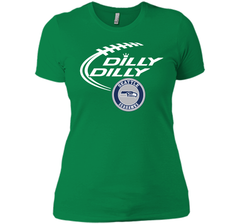 DILLY DILLY Seatle Seahawk shirt Next Level Ladies Boyfriend Tee - PresentTees