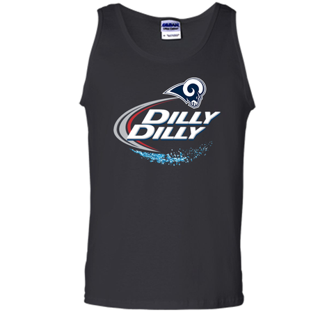 Los Angeles Rams Dilly Dilly Bud Light T-Shirt LAR NFL Football Team Gift for Fans Black / Small Tank Top - PresentTees